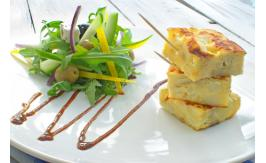spanish omelette salad potato plate 30560703